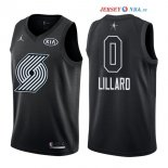 2018 All Star - Maillot NBA Damian Lillard 0 Noir