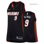 Miami Heat - Maillot Femme NBA Kelly Olynyk 9 Noir Icon 2018