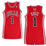 Chicago Bulls - Maillot Femme NBA Derrick Rose 1 Rouge