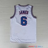 Tune Squad - Maillot NBA James 6 Blanc