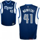 Dallas Mavericks - Maillot NBA Dirk Nowitzki 41 Bleu Profond