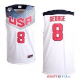 2014 USA - Maillot NBA George 8 Blanc