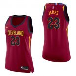 Cleveland Cavaliers - Maillot Femme NBA LeBron James 23 Rouge Icon 2017/2018