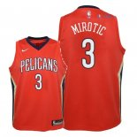New Orleans Pelicans - Maillot Junior NBA Nikola Mirotic 3 Rouge Statement 2018
