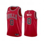 Chicago Bulls - Maillot NBA Coby White 0 Rouge Icon 2019-2020