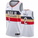 Orleans Pelicans-Maillot NBA Lonzo Ball 2 Blanc Earned 2019-20