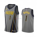 Indiana Pacers - Maillot NBA T.J. Warren Gray 1 Gris Ville 2019-2020