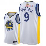 Golden State Warriors - Maillot NBA Andre Iguodala 9 Blanc 2018 Finales Champions