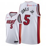 Miami Heat - Maillot NBA Derrick Jones Jr 5 Blanc Association 2018