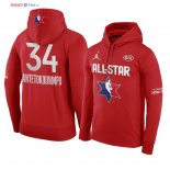 2020 All Star - Sweat Capuche NBA Giannis Antetokounmpo 34 Rouge