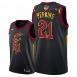 Cleveland Cavaliers - Maillot NBA Kendrick Perkins 21 Noir Statement Patch 2018 Finales Champions