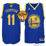 Golden State Warriors - Maillot NBA Thompson 11 Bleu Finales