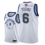 Golden State Warriors - Maillot NBA Nick Young 6 Retro Blanc 2018 Finales Champions