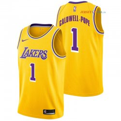 Los Angeles Lakers - Maillot NBA Kentavious Caldwell Pope 1 Jaune Icon 2018/2019