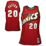 Seattle Supersonics - Maillot NBA Gary Payton 20 Retro Rouge