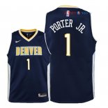 Denver Nuggets - Maillot Junior NBA Michael Porter Jr 1 Marine Icon 2018