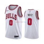 Chicago Bulls - Maillot NBA Coby White 0 Blanc Association 2019-2020