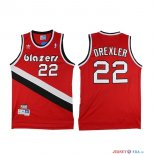 Portland Trail Blazers - Maillot NBA Clyde Drexler 22 Rouge