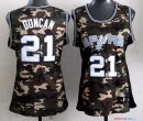 2013 Camouflage Fashion - Maillot Femme NBA Tim Duncan 21