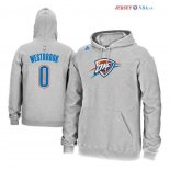 Oklahoma Ville Thunder - Sweat Capuche NBA Russell Westbrook 0 Gris