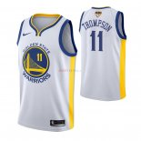 Golden State Warriors - Maillot NBA Klay Thompson 11 Blanc Association 2019 Finales Champions