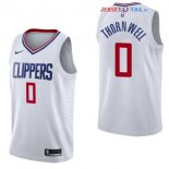 Los Angeles Clippers - Maillot NBA Sindarius Thornwell 0 Blanc Association 2017/2018