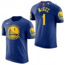 Golden State Warriors - Maillot NBA JaVale McGee 1 Bleu Manche Courte 2017/2018