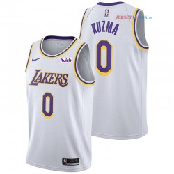 Los Angeles Lakers - Maillot NBA Kyle Kuzma 0 Blanc 2018/2019