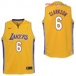 Los Angeles Lakers - Maillot Junior NBA Jordan Clarkson 6 Jaune Icon
