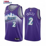 Utah Jazz - Maillot NBA Joe Ingles 2 Pourprel Hardwood Classics 2019-20