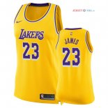 Los Angeles Lakers - Maillot Femme NBA LeBron James 23 Jaune Icon 2018/2019