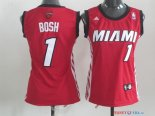 Miami Heat - Maillot Femme NBA Chris Bosh 1 Rouge