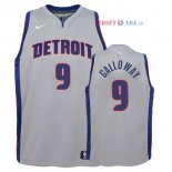 Detroit Pistons - Maillot Junior NBA Langston Galloway 9 Gris Statement