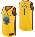 Golden State Warriors - Maillot NBA JaVale McGee 1 Nike Jaune Ville 2017/2018