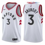 Toronto Raptors - Maillot NBA OG Anunoby 3 Blanc Association 2017/2018
