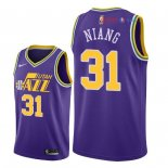 Utah Jazz - Maillot NBA Georges Niang 31 Retro Pourpre 2018