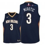 New Orleans Pelicans - Maillot Junior NBA Nikola Mirotic 3 Marine Icon 2018