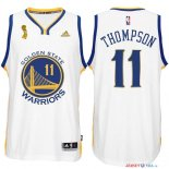 Golden State Warriors - Maillot NBA Thompson 11 Blanc 2015 Finales Champions