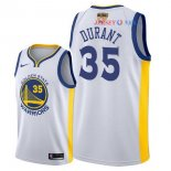Golden State Warriors - Maillot NBA Kevin Durant 35 Blanc 2018 Finales Champions