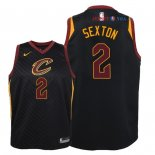 Cleveland Cavaliers - Maillot Junior NBA Collin Sexton 2 Noir Statement 2018
