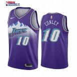 Utah Jazz - Maillot NBA Mike Conley Jr 10 Pourprel Hardwood Classics 2019-20