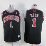 Chicago Bulls - Maillot Junior NBA Derrick Rose 1 Noir