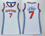 New York Knicks - Maillot Femme NBA Carmelo Anthony 7 Blanc