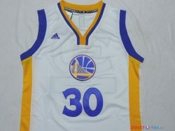 Golden State Warriors - Maillot Junior NBA Stephen 30 Blanc 2014 Noël