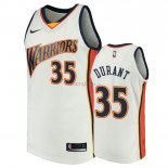 Golden State Warriors - Maillot NBA Kevin Durant 35 Blanc Throwback